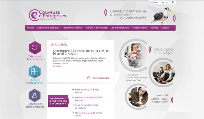 site Couveuse d'entreprises 17